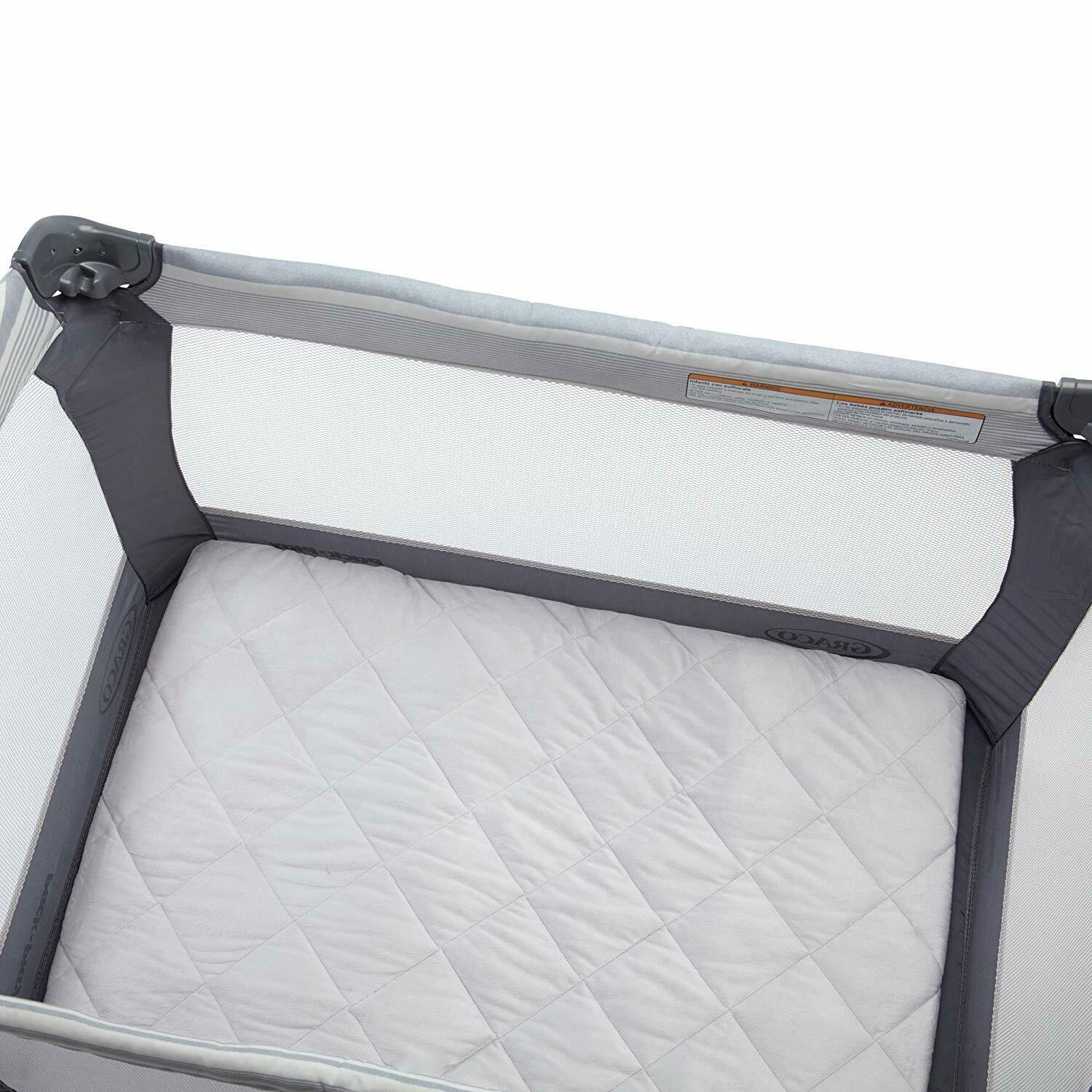 carter s quilted playard sheet solid grey