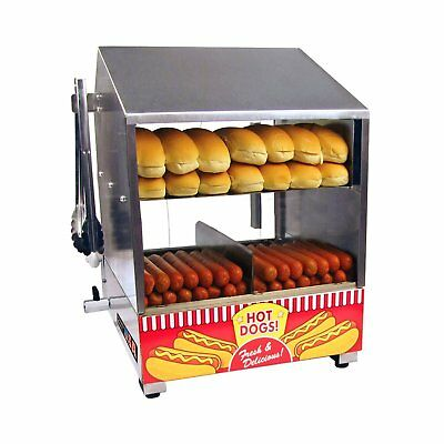 New Professional Hot Dog Steamer Merchandiser Commercial Concession Stand No Tax