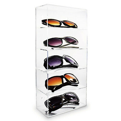 Acrylic Five Shelves Eyewear Case Display Wall Mountedfree Standing