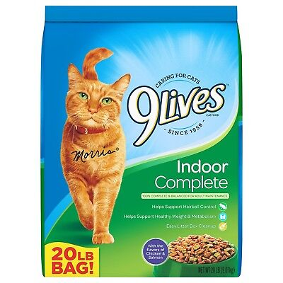 9Lives Dry Cat Food Indoor Complete 20 Pound