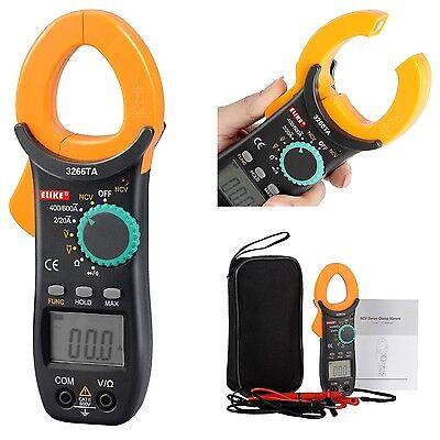 Digital Clamp Meter Multimeter Ac Dc Voltmeter Auto Range Volt Ohm Amp Tester