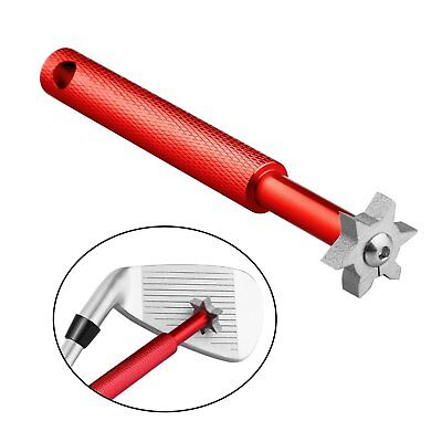 Iron Wedge Golf Club Groove Sharpener Tool + 6 Cutters Red For Optimal Backspin