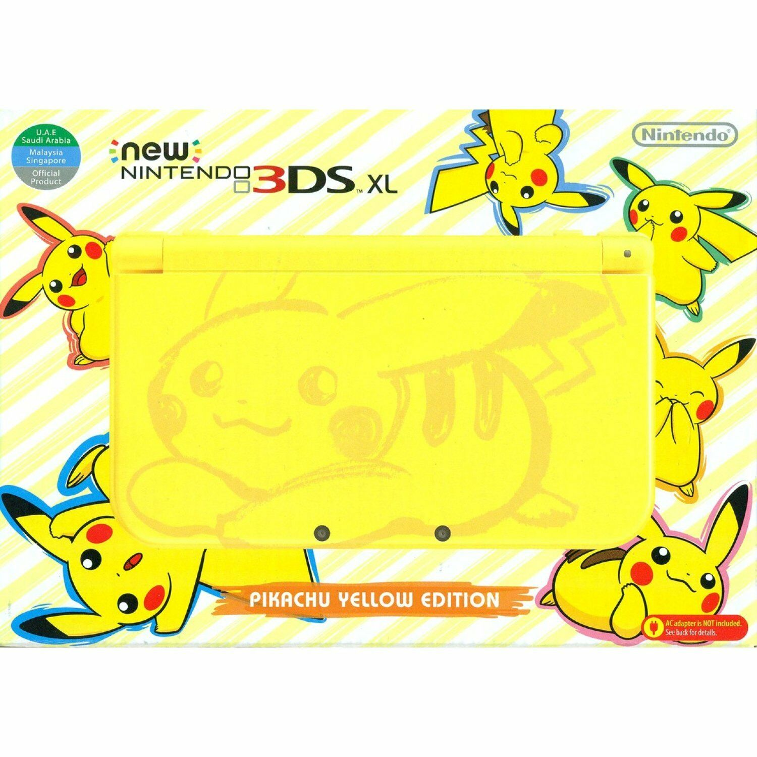 New Nintendo 3DS XL - Pikachu Edition - Plays all USA games