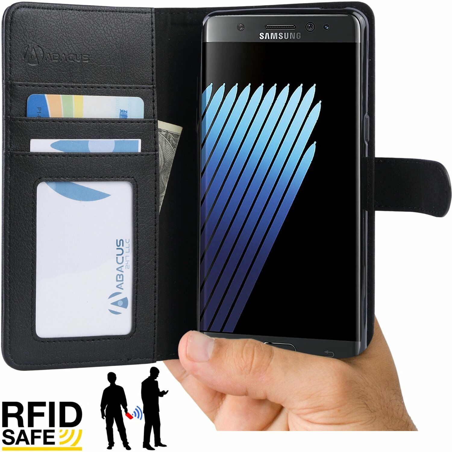 custodia con blocco notes samsung