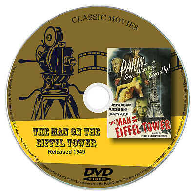 The Man on the Eiffel Tower 1949 DVD Film Charles Laughton - Mystery,