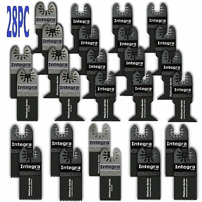 28pc For Fein Bosch Ridgid Dewalt Makita Ryobi Multi Tool Oscillating Saw Blades