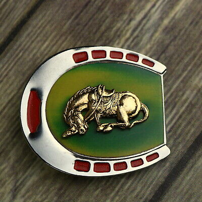 Horse Horseshoe Belt Buckle (Horse Horseshoe Belt Buckle Color Changing Western Cowboy Hippie Cowgirl Vintage )