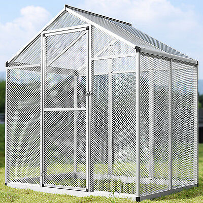LARGE Bird Cage Play Top Parrot Finch Cockatiel Macare Walk In Aviary Pet House