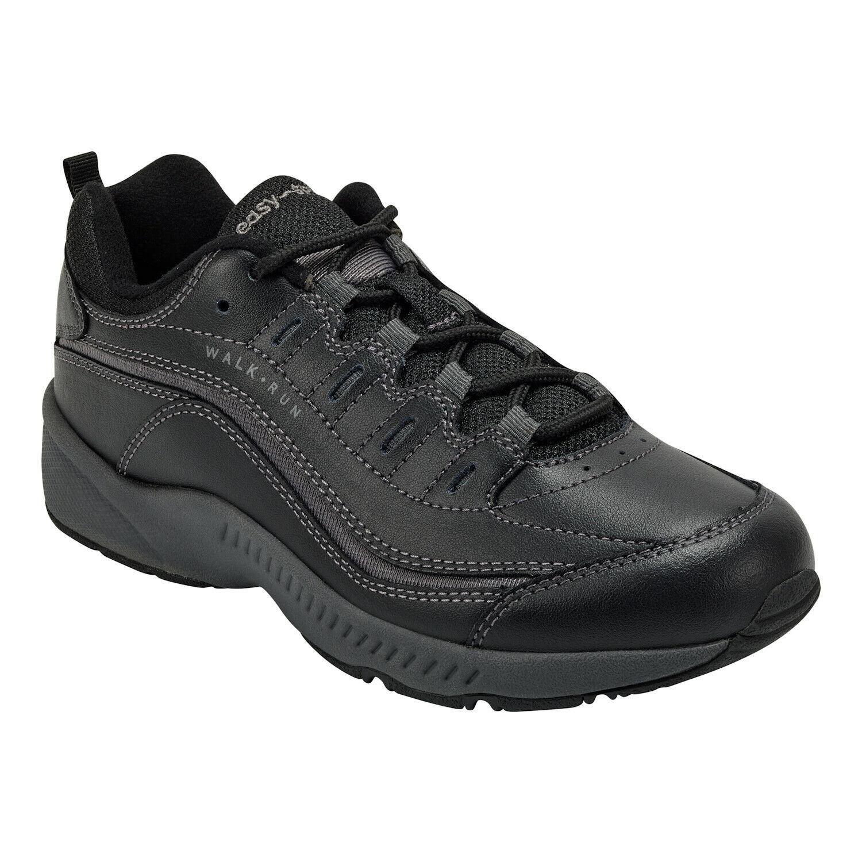 Easy Spirit Romy Sneakers 7.5 M, Black/Dark Grey
