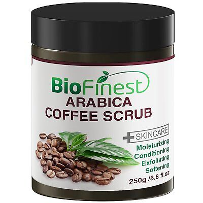 Biofinest Arabica Coffee Scrub: Best For Varicose Veins, Cellulite, (Best Coffee Scrub For Cellulite)
