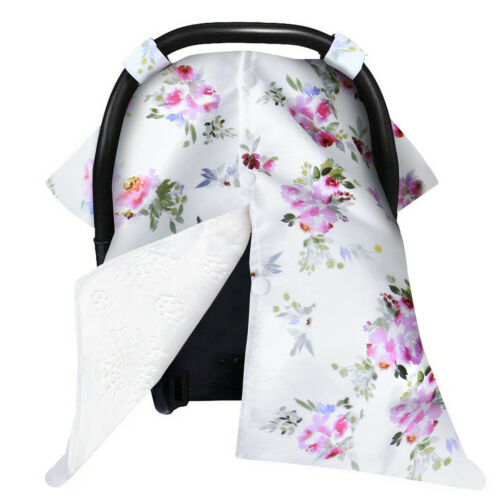 Baby Carseat Canopy Nursing Cover for Breastfeeding Blanket Minky Fabric Back
