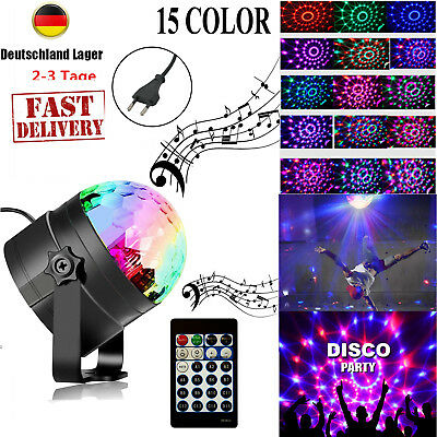 NEU LED Discokugel Lichteffekt Magic RGB DJ Party Bühnenbeleuchtung Decor Licht