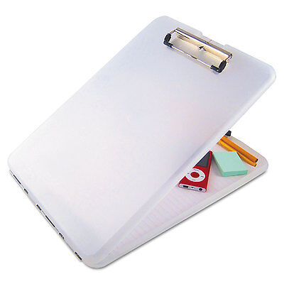 Saunders Slimmate Storage Clipboard 12 Clip Cap 8 12 X 11 Sheets Clear 00871