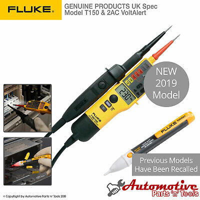 Genuine Fluke T150 2ac Voltage Continuity Electrical Lcd Two Pole Tester