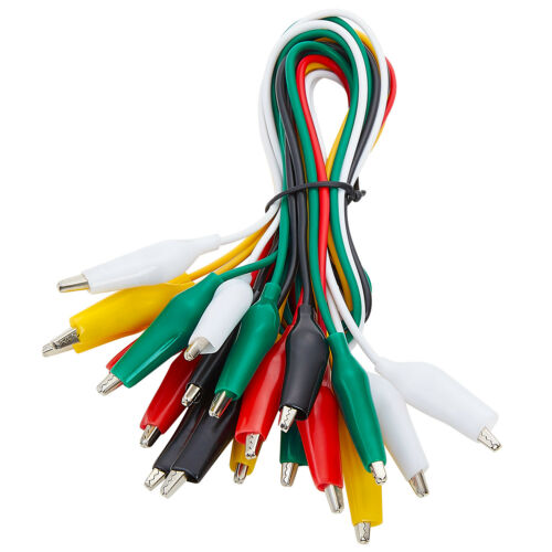 WGGE WG-026 10 Pieces and 5 Colors Test Lead Set & Alligator Clips, 20.5 inches