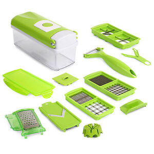 Nicer Dicer Plus Super Slicer Fruit Vegetable Peeler Chopper Grater 12 PCS