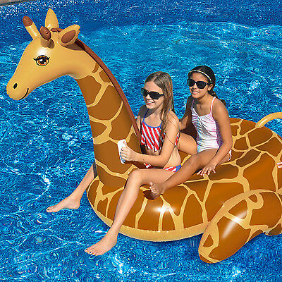 Swimline April The Giraffe Giant Inflatable Swimming Pool Lounge Float 90710