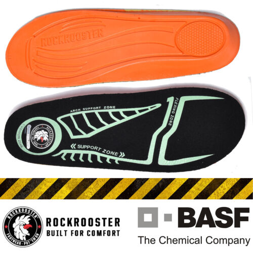 ROCKROOSTER Men's Boots Shoe Insoles Inserts Arch Support In