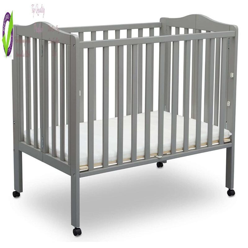Delta Children Folding Portable Mini Baby Crib With 1.5-Inch