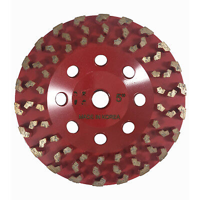 Dia Plus 5 Vacuum Brazed Grinding Cup Wheel For Concrete