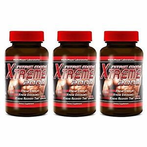 3X Maritzmayer Lab Nitric Oxide Xtreme Muscle Growth Supplement 90 Capsules each