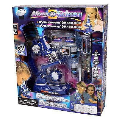 MIKROSKOP 36 Teile Set für Kinder bis zu 900x Vergrößerung