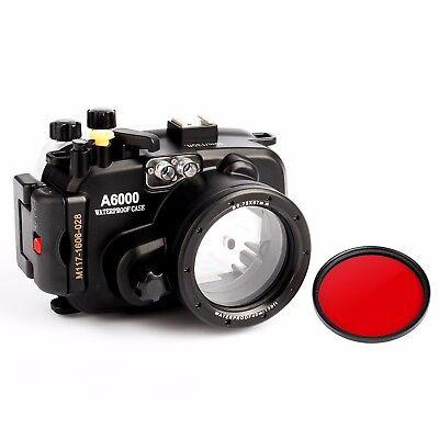 Meikon 40m Wasserdicht Unterwasser Gehäuse Case für Sony A6000 16-50mm Objektiv