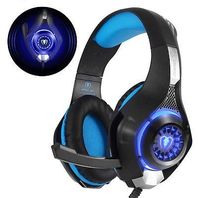 Cuffie Gaming con microfono e luce LED, per PS4 + Xbox One + Xbox One X
