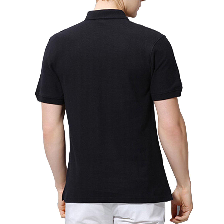 Men's Polo Shirt Golf Sports Cotton Short Sleeve Jersey Casual Plain T Shirt New 2