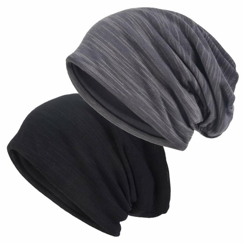 Einskey Slouchy Beanie For Men/Women 2-Pack Baggy Skull Cap