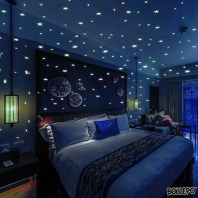 BOLLEPO Glow in The Dark Stars and Dots 332 3D Wall Stickers for Kids