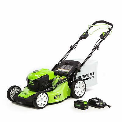 Greenworks 21-INCH Brushless Self-Propelled Lawn Mower with Battery & Charger