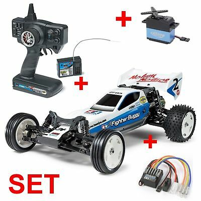 Tamiya RC-Buggy Neo Fighter Buggy DT-03 2WD 1:10 - 300058587 + RC ANLAGE + SERVO