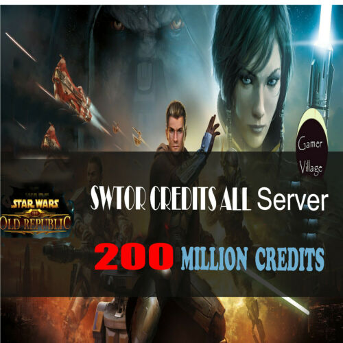 SWTOR CREDITS |200M Star Wars The Old Republic credits |All SWTOR Server