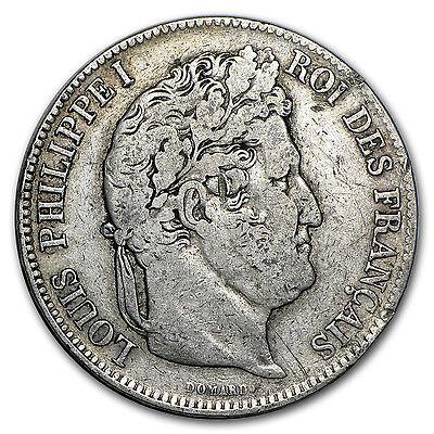 France Silver 5 Francs Louis Philippe I - Average Circulation - SKU #48597