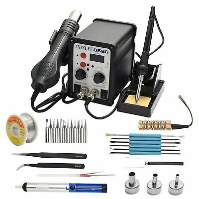 Txinlei 8586 110v Solder Station 2 In 1 Digital Display Smd Hot Air Rework And
