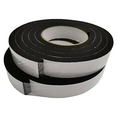 Rubber Insulation Foam Tape Self Adhesive Weather Stripping 1 Inch Wide X 3/8...