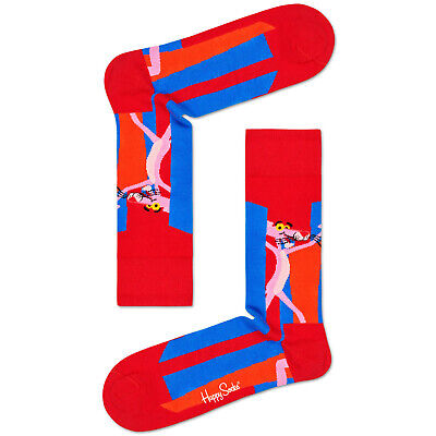Happy Socks x Pink Panther Women's Crew Socks - Smile Pretty, Say -