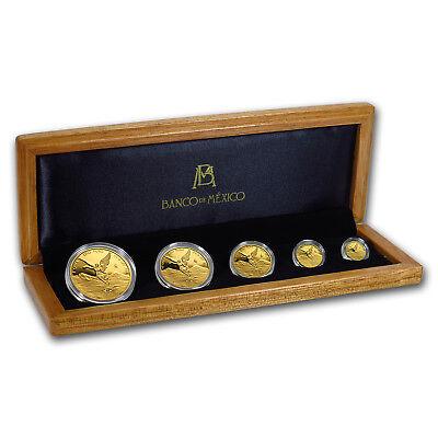 2018 Mexico 5-Coin Gold Libertad Proof Set (1.9 oz, w/Box & COA) - SKU#171822