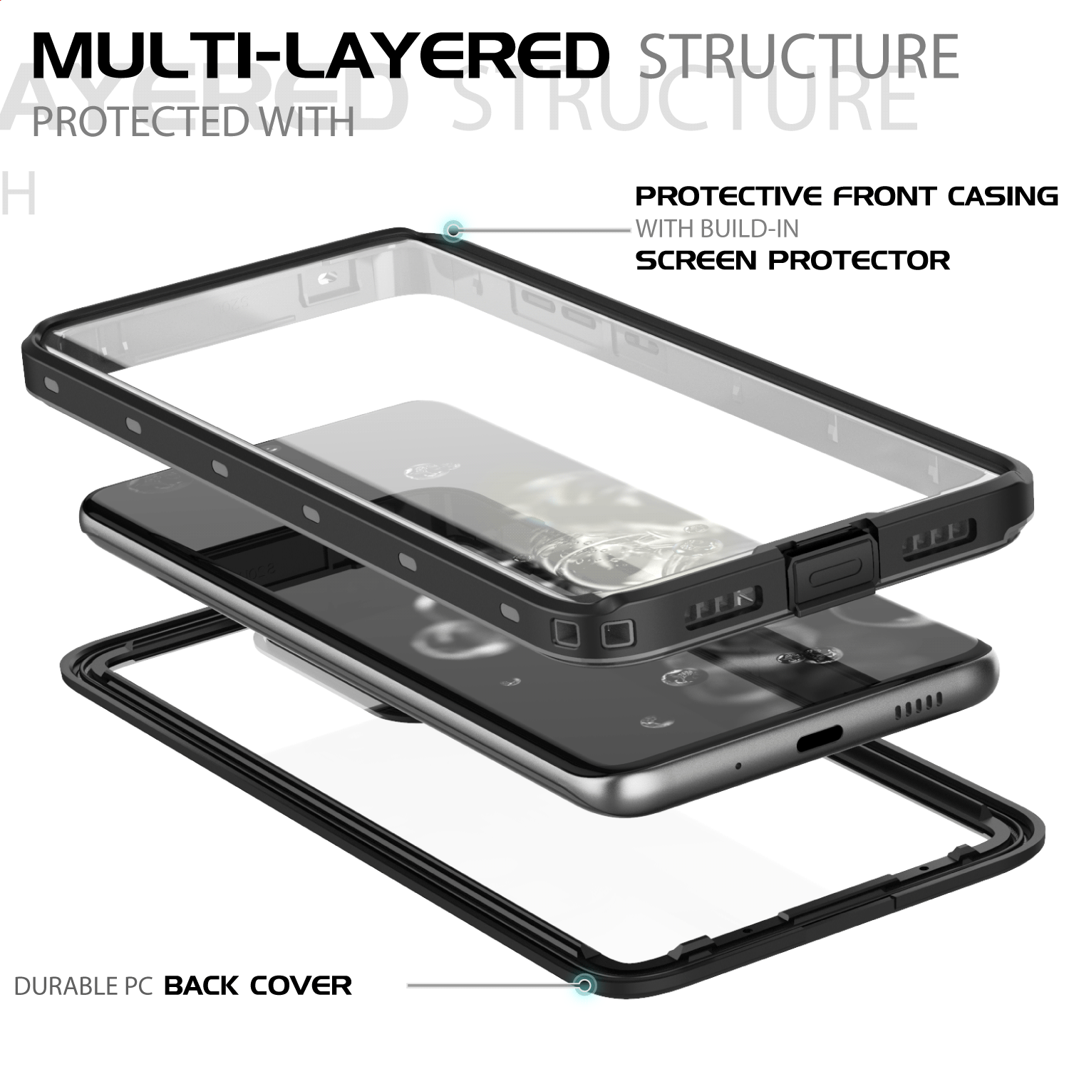 как выглядит For Samsung Galaxy S20 Plus S20 Ultra 5G Waterproof Case with Screen Protector фото