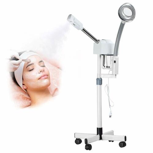 Pro 2 in 1 Hot Ozone Machine Facial Steamer 5X Magnifying La
