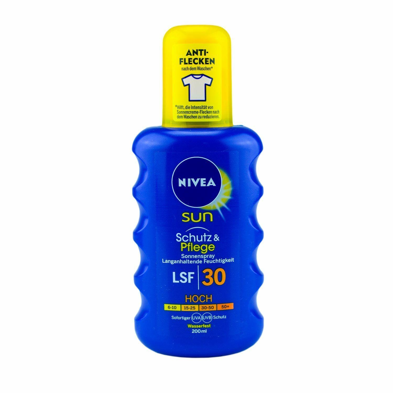 2x NIVEA SUN Sonnenspray Schutz&Pflege Lichtschutzfaktor LSF30 Wasserfest 200 ml