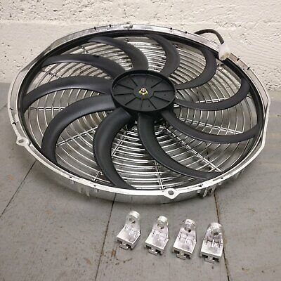 2001 Cadillac Catera 16 Inch Chrome Radiator Fan electric cooling Chrome