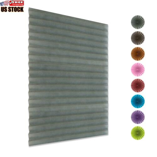 Pleated Blind Curtains Window Covers Self Adhesive Temporary