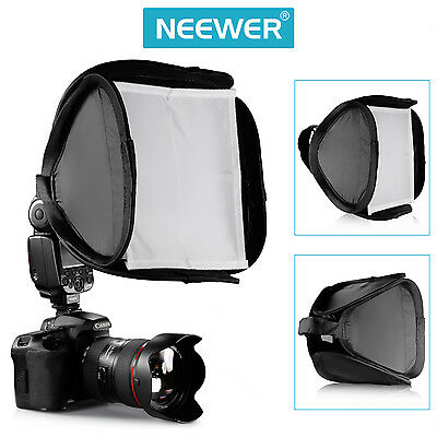 "Neewer 9""x9""/23x23cm Portable Professional Softbox Kit for Flash Speedlite"