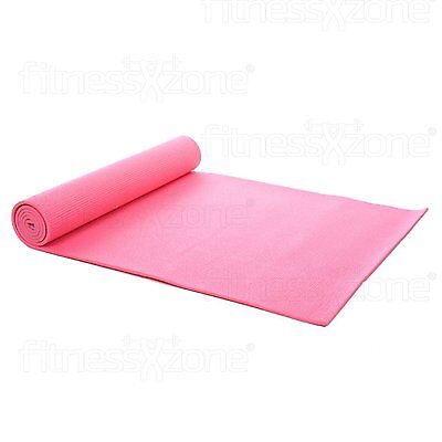 Pink Yoga Exercise Fitness Gym Workout Mat Physio Pilates Non Slip 6mm