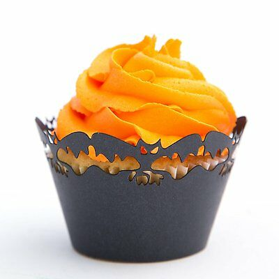 Halloween Cupcake Wrappers Scary Bats 50 Pc for Parties and Special Occasions - Cupcake For Halloween