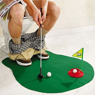 Work on your golf skills from the toilet