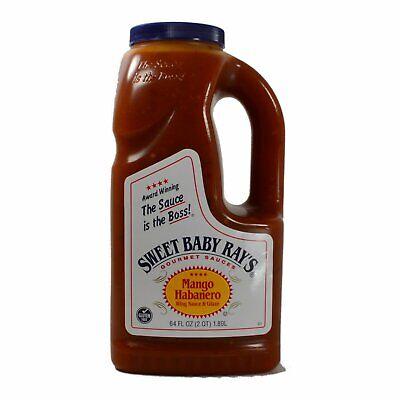 Sweet Baby Rays Mango Habanero Wing Sauce 64 Oz. ( 1 Container) Exp. 8/19/20