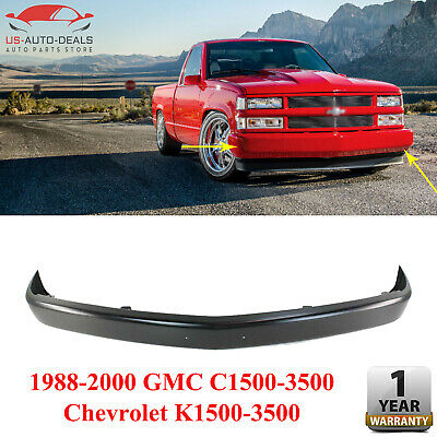 Front Bumper Steel Paintable For 1988-2000 GMC C1500 3500 / Chevrolet K1500 3500